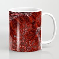 weed Mugs featuring Red Weed by Steve Purnell