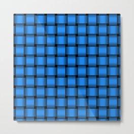 Dodger Blue Weave Metal Print