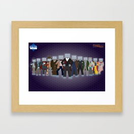 Robot of Leisure: Popped Culture – Doctor Who edition Framed Art Print