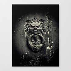 Knock if you dare! Canvas Print
