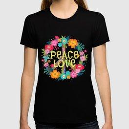 Peace Love Hippie Costume Tie Die 60s 70s T-shirt