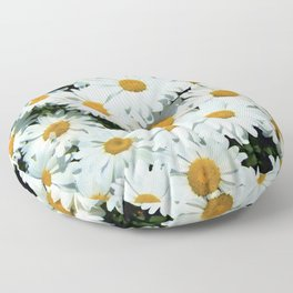 Daisies explode into flower Floor Pillow