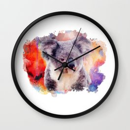 Watercolor Koala Wall Clock