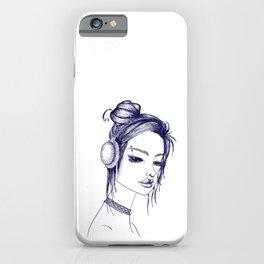 Suicide Girl Sketch iPhone Case