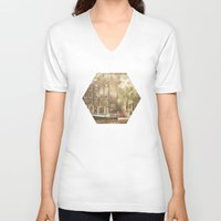 amsterdam V-neck T-shirts featuring Amsterdam by Cassia Beck