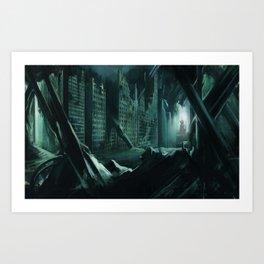 Drowned city Art Print