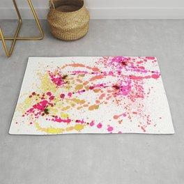 Uplifting Heat - Abstract Splatter Style Rug