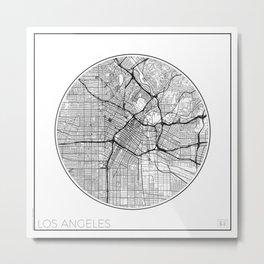 Los Angeles Map Universe Metal Print