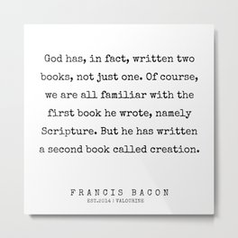 25   | Francis Bacon Quotes | 200205 Metal Print