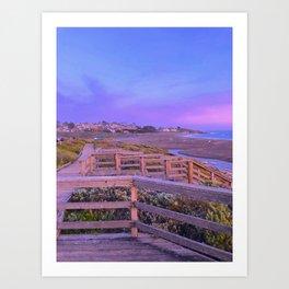 Moonstone Beach California Art Print