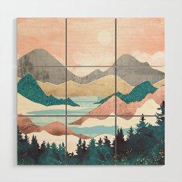 Lake Sunrise Wood Wall Art