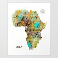 africa Art Prints featuring Africa by bri.buckley
