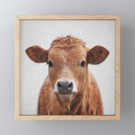 Cow 2 - Colorful Framed Mini Art Print