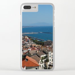 SEA LANDSCAPE IN SALERNO, ITALY. Clear iPhone Case