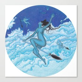 Flight of the Witches Canvas Print