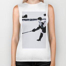 He shoots, He scores! - Hockey Player Biker Tank