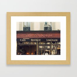 Le Bistro Framed Art Print