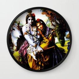 Hindu Krishna 3 Wall Clock