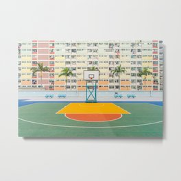 BASKETBALL COURT Metal Print