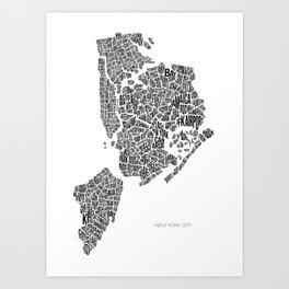 New York City, White Art Print