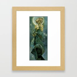 "Alphonse Mucha ""The Moon and the Stars Series: The Moon"" Framed Art Print"