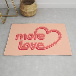More Love. Typography design Rug