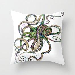 Octopsychedelia Throw Pillow