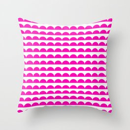 BREE ((hot pink)) Throw Pillow