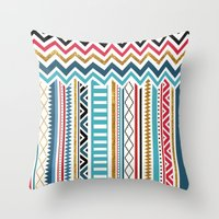 tribal Throw Pillows featuring Tribal by Kakel