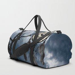 Black Bird Crow Tree Dream Catcher Night Moon A082 Duffle Bag
