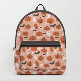 Pumpkin Party on Blush Pink Backpack