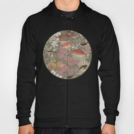 Fishes & Flowers - Seamless pattern Hoody