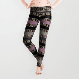 Openwork striped pattern Leggings