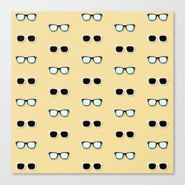 All Them Glasses - Yellow Canvas Print