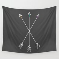gray Wall Tapestries featuring Killers (Gray) by Zeke Tucker
