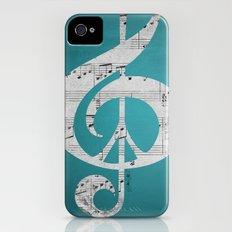 Music & Peace Aqua Sheets Slim Case iPhone (4, 4s)