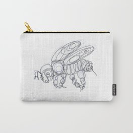 Honey Bee Line Drawing Carry-All Pouch