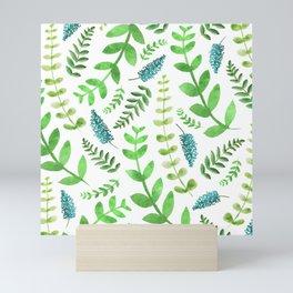 Greenery Leaves Pattern Mini Art Print