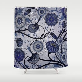 Denim Blues Shower Curtain
