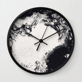 Negative space Wall Clock