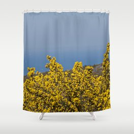Landscape on mountain with blue sky Shower Curtain