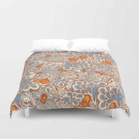 Orange And Blue Pattern Duvet Cover By Melazerg Society6