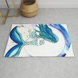 Sirena y la luna Rug