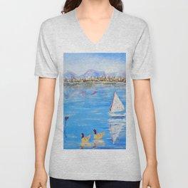 Pond Lovers   Amoureux de L'Etang Unisex V-Neck