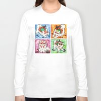 okami Long Sleeve T-shirts featuring Okami Set by Jazmine Phillips