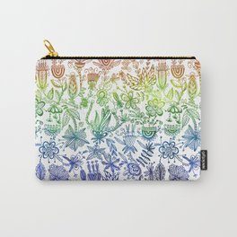 Rainbow Floral Connection Carry-All Pouch