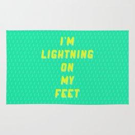 I'm Lightning On My Feet Rug