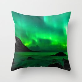 Northern Lights (Aurora Borealis) 5. Throw Pillow