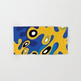 Amoeba Leaf Blue Hand & Bath Towel