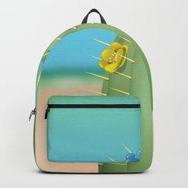 Cartoon Beach Cactus Backpack